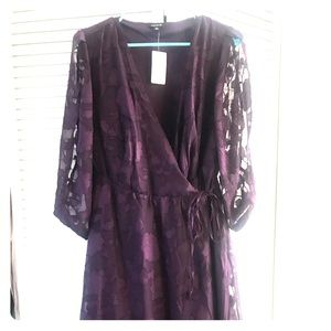 Dark Purple Torrid Wrap Dress
